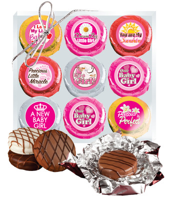 Baby Girl Cookie Talk 9pc Chocolate Oreo Box