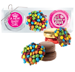 BABY GIRL M&M & CHOCOLATE OREO TRIO