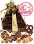 Baby Girl Tower of Treats - Brown & Gold