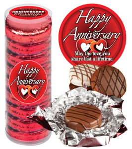 "ANNIVERSARY  ""COOKIE TALK"" CHOCOLATE OREOS - 9 Pc.CYLINDER"