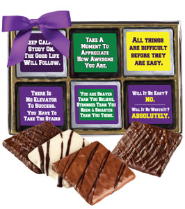"BACK-TO-SCHOOL ""COOKIE TALK"" CHOCOLATE GRAHAM 12 PC. BOX"