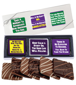 "BACK-TO-SCHOOL ""COOKIE TALK"" CHOCOLATE GRAHAM 6 PC GIFT BOX"