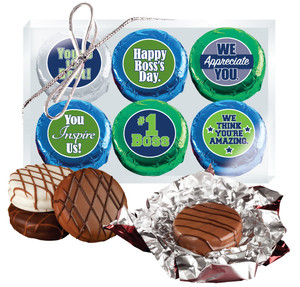 "Best Boss ""Cookie Talk"" Chocolate Oreo 6 Pc  Box"