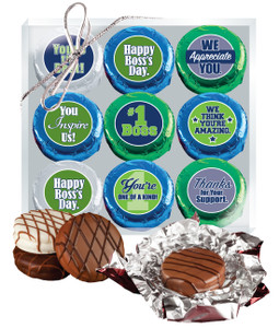 Best Boss Cookie Talk 9pc Chocolate Oreo Box