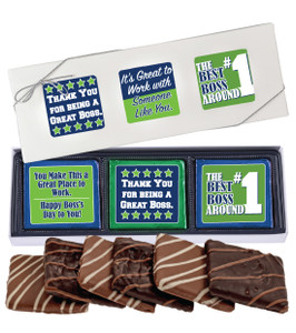 "BEST BOSS ""COOKIE TALK"" CHOCOLATE GRAHAM 6 PC GIFT BOX"