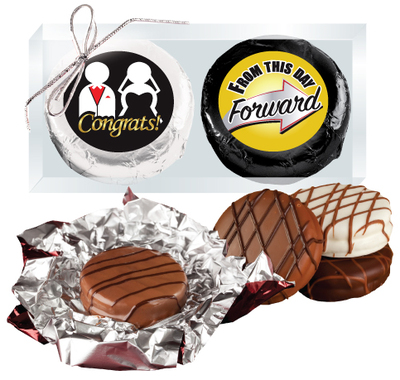 Wedding Cookie Talk Chocolate Oreo Duo