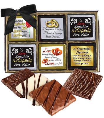 Wedding Cookie Talk 12pc Chocolate Graham Box