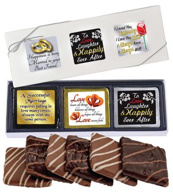 Wedding Cookie Talk 6pc Chocolate Graham Box