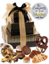 Wedding 3 Tier Tower of Treats - Brown & Gold Stripes