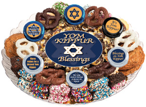 Yom Kippur Caramel Popcorn & Cookie Assortment Platter