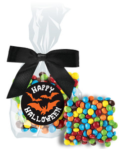 Halloween Chocolate Grahams with Mini M&Ms