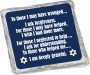 Yom Kippur Cookie Talk Chocolate Graham - silver foil