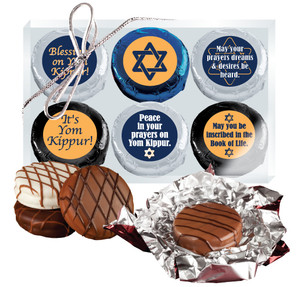 "YOM KIPPUR ""COOKIE TALK"" CHOCOLATE OREO 6 Pc GIFT BOX"
