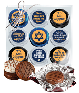 "Yom Kippur ""Cookie Talk"" Chocolate Oreo 9 Pc Box"