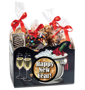 Happy New Year Basket Box of Gourmet Treats