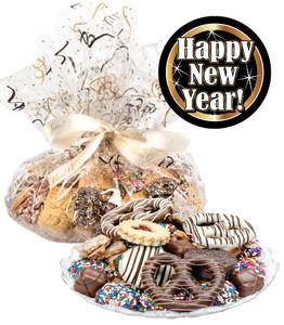 HAPPY NEW YEAR  COOKIE ASSORTMENT SUPREME - Cookies, Pretzel & Candy