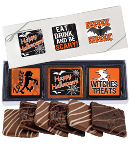 Halloween Cookie Talk Chocolate Graham 6pc Gift Box