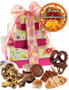 Thanksgiving 3 Tier Tower of Treats - pink & yellow