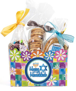 Hanukkah Gift Flower Box of Gourmet Treats