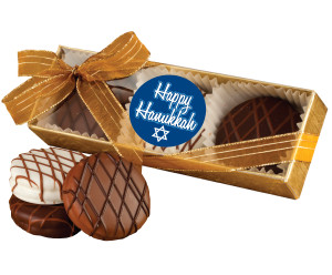 Hanukkah Chocolate Drizzled Oreo Trio