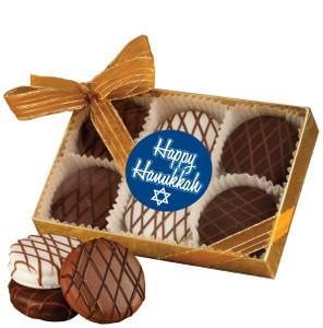 Hanukkah Chocolate Drizzled Oreo 6 Pk