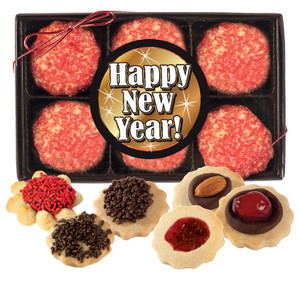 Happy New Year Butter Cookie Box