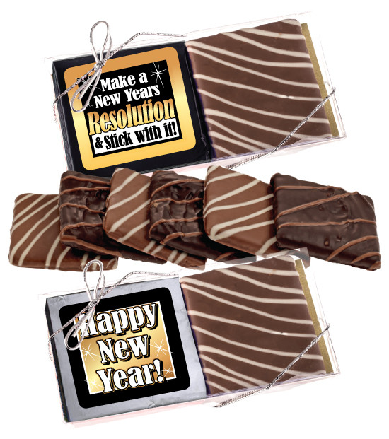 happy new year cookie talk chocolate graham duo image 1
