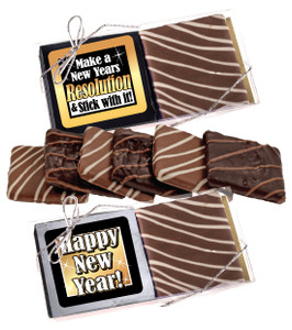 "Happy New Year  ""Cookie Talk"" Chocolate Graham Duo"