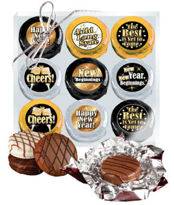 "Happy New Year  ""Cookie Talk"" Chocolate Oreo 9 Pc Box"
