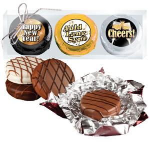 "Happy New Year ""Cookie Talk"" Chocolate Oreo Trio  W/ Messages"
