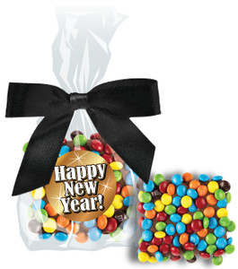 Happy New Year Chocolate Grahams W/ Mini M&Ms