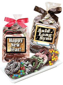 Happy New Year Gourmet Pretzel Bag
