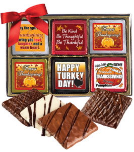"Thanksgiving ""Cookie Talk""-  12 Pc Chocolate Graham Gift Box"