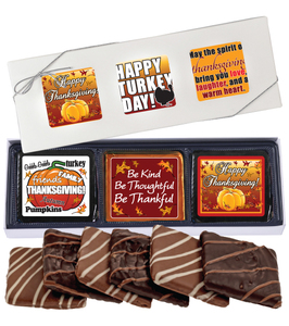 "THANKSGIVING ""COOKIE TALK"" CHOCOLATE GRAHAM 6 PC GIFT BOX"