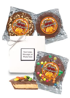 Thanksgiving Mini Peanut Butter Candy Pie