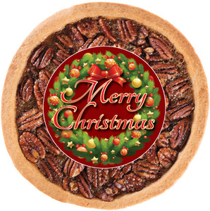 CHRISTMAS PECAN COOKIE PIE