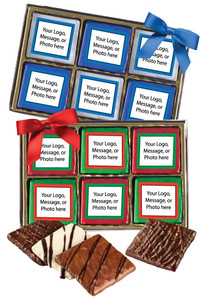 Christmas/Holiday Custom 12pc Chocolate Graham Gift Box