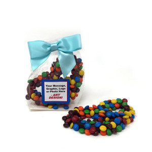 Custom Favor Bags - Chocolate Pretzels