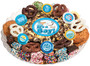 Baby Boy Caramel Popcorn & Cookie Assortment Platter