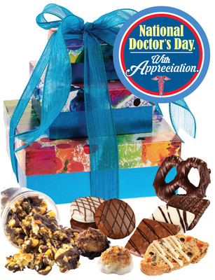 Doctor Appreciation 3 Tier Tower of Treats - Blue