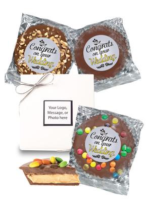 Wedding Peanut Butter Candy Pie