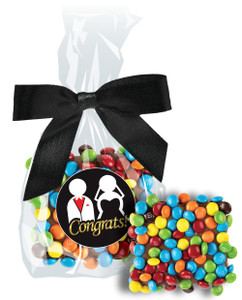 WEDDING CHOCOLATE GRAHAMS W/ MINI M&Ms