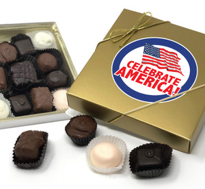 CELEBRATE AMERICA CHOCOLATE CANDY BOX