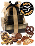Halloween Tower of Treats - Brown and Gold Stripes