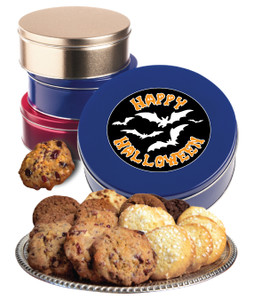 HALLOWEEN CUSTOM COOKIE TIN - Your Assortment - Your  Logo, Photo or Message