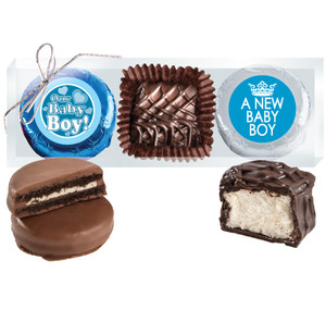 "BABY BOY  ""COOKIE TALK"" CHOCOLATE OREO & MARSHMALLOW TRIO"