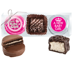 "Baby Girl""Cookie Talk"" Chocolate Oreo & Marshmallow Trio"