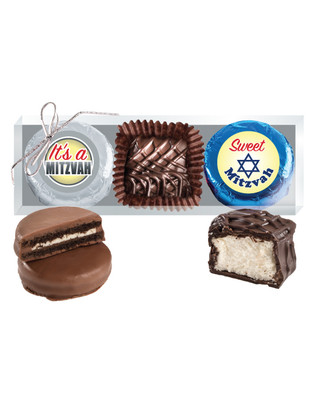 Bar/Bat Mitzvah Cookie Talk Chocolate Oreo & Marshmallow Trio