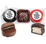 Custom Chocolate Oreo & Marshmallow Trio - Black & red