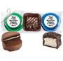 Custom Cookie Talk Chocolate Oreo & Marshmallow Trio - Green & Blue Foils